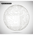 Abstract Sphere Diagram Technology Background vector image