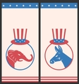 Banners for Advertise of United States Political vector image vector image