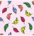 beautiful seamless pattern with tropical bird vector image vector image