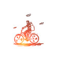 bicycle travel ride activity concept vector image vector image