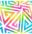 bright maze seamless pattern vector image vector image