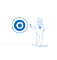 businessman arrow hitting target center of vector image