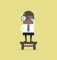 businessman with binoculars vision concept vector image vector image