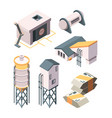 cement production heavy industry concrete vector image vector image