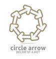 circle arrow brown design symbol icon vector image vector image