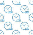 Clock seamless pattern vector image vector image