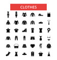 clothes thin line icons linear flat vector image