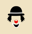 clown face symbol vector image vector image