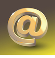 Colored email icon sign vector image vector image