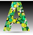 colorful bubble alphabet vector image