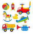 colorful children toy set vector image vector image