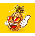 colorful hipster pineapple with sunglasse vector image