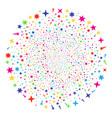 confetti stars decoration round cluster vector image vector image