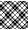 cornish tartan diagonal fabric texture black and vector image vector image