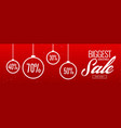 crazy christmas sale and discount banner design vector image vector image