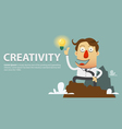 Creative light bulb with Success businessman vector image