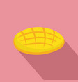 cutted mango icon flat style vector image vector image