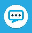 dialogue icon colored symbol premium quality vector image