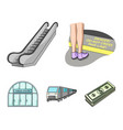 electric transport equipment and other web icon vector image vector image
