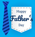 fathers day flat in background with necktie vector image vector image