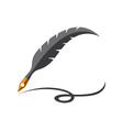 Feather Logo vector image vector image