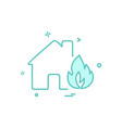 fire house icon design vector image