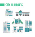 five city buildings set of icons - vector image vector image
