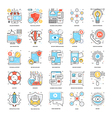 Flat Color Line Icons 1 vector image vector image