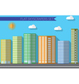 flat design concept for urban landscapes city vector image