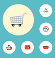 flat icons support payment trolley and other vector image vector image
