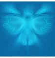 Futuristic butterfly vector image vector image