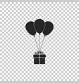 gift box with balloons icon isolated vector image vector image