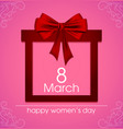 gift card for international women s day march 8 vector image