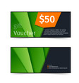 gift voucher shopping sale promotional flyer vector image