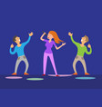 girl singing and dancing boys night club vector image
