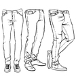 Hand drawn fashion design men denim vector image vector image