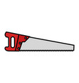 handsaw carpentry isolated icon vector image