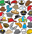 Hat pattern seamless vector image vector image