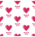heart pattern thank you vector image vector image