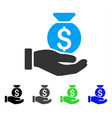 investment hand flat icon vector image