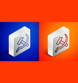 isometric line hammer and sickle ussr icon vector image vector image