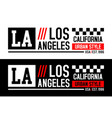 la california typography graphics vector image vector image