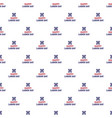 labor happy day pattern seamless vector image