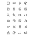 Media Line Icons 3 vector image vector image