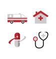 medical icons set on white background image vector image