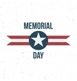 Memorial Day Label with Text vector image vector image