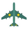 Military aircraft with missiles icon flat style vector image vector image