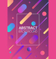 modern futuristic abstract dynamic geometric cover vector image vector image