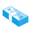 money bundle cash vector image vector image