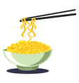 noodles color vector image